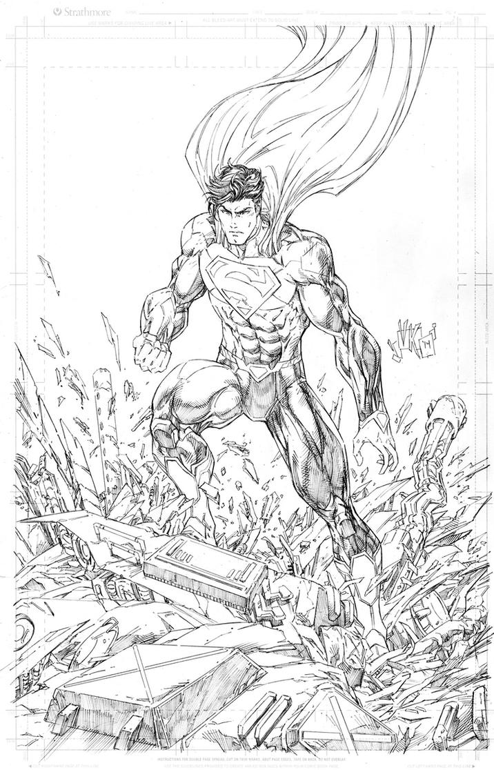 Superman Landing by vmarion07