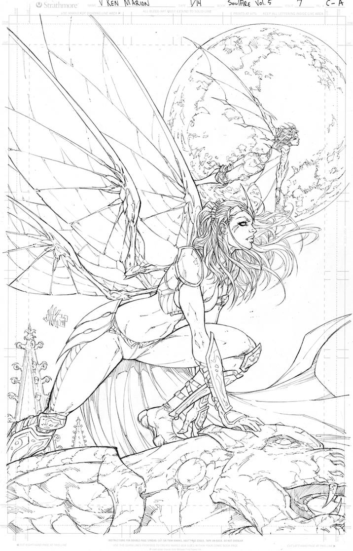 All New Soulfire #7 Cover A Pencils by vmarion07