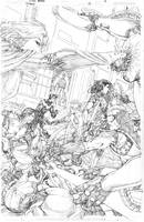 Titans #13  page 01 pencils by vmarion07
