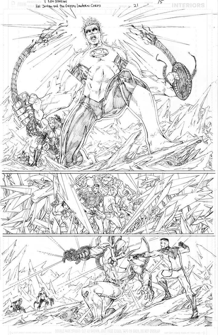 Hal Jordan and the Green Lantern Corps #21 page 15 by vmarion07