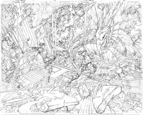 Aquaman GiANT #3 Page 2-3 PENCILS