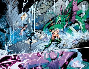 Aquaman GiANT #3 Page 2-3 COLOR