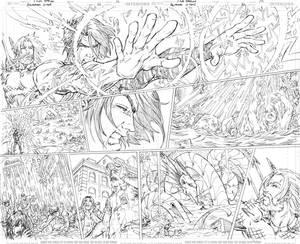 Aquaman GiANT #3 Page 12-13 PENCILS