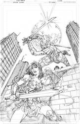 Wonder Woman #83 cover PENCILS