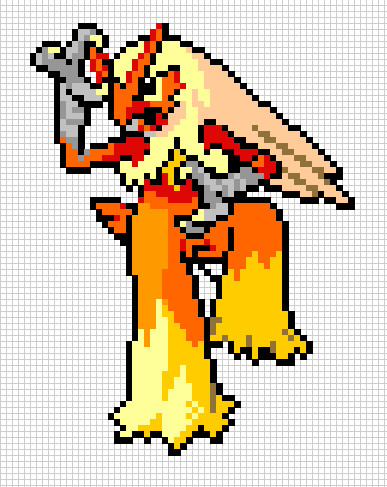 Pixel Blaziken by dncbrules