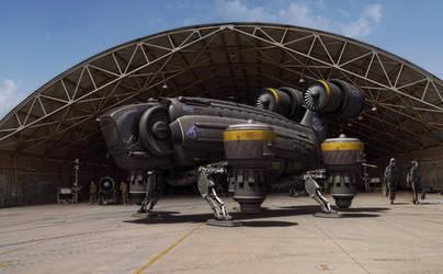 Sky Crane Concept by Palantion