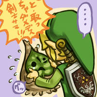 Link and makar by Sii-SEN