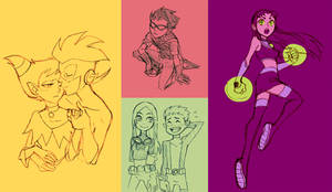 TEEN TITANS drawing by Sii-SEN