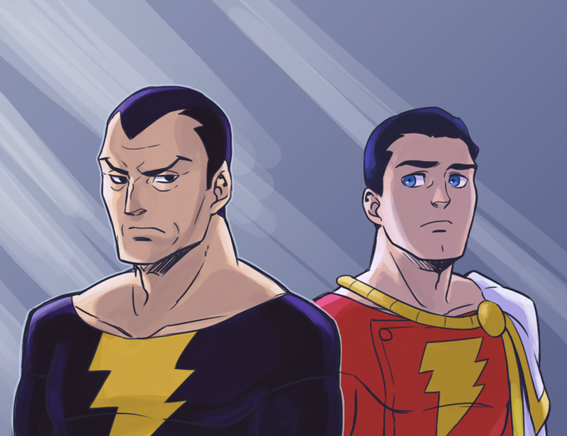 Captain Marvel And Black Adam By Sii SEN