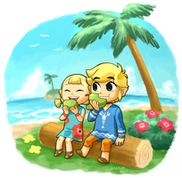 Link and Aryll by Sii-SEN