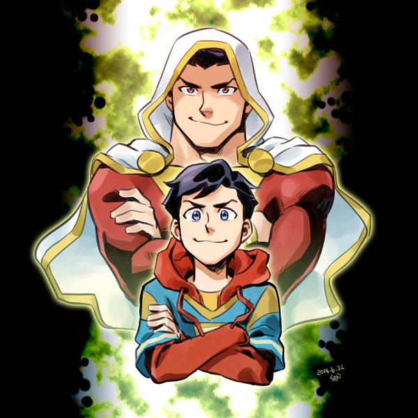 Shazam and Billy by Sii-SEN