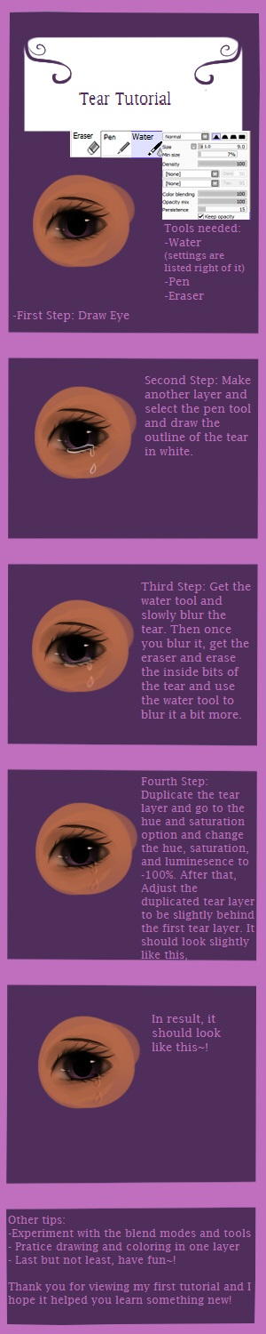 Paint Tool Sai: Tear Tutorial By Pipomanager-mimmi On