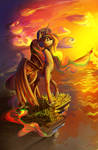 Wandering sun
