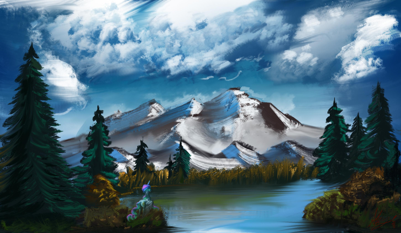 Painting Bob Ross Sale