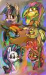 Colorful ponies