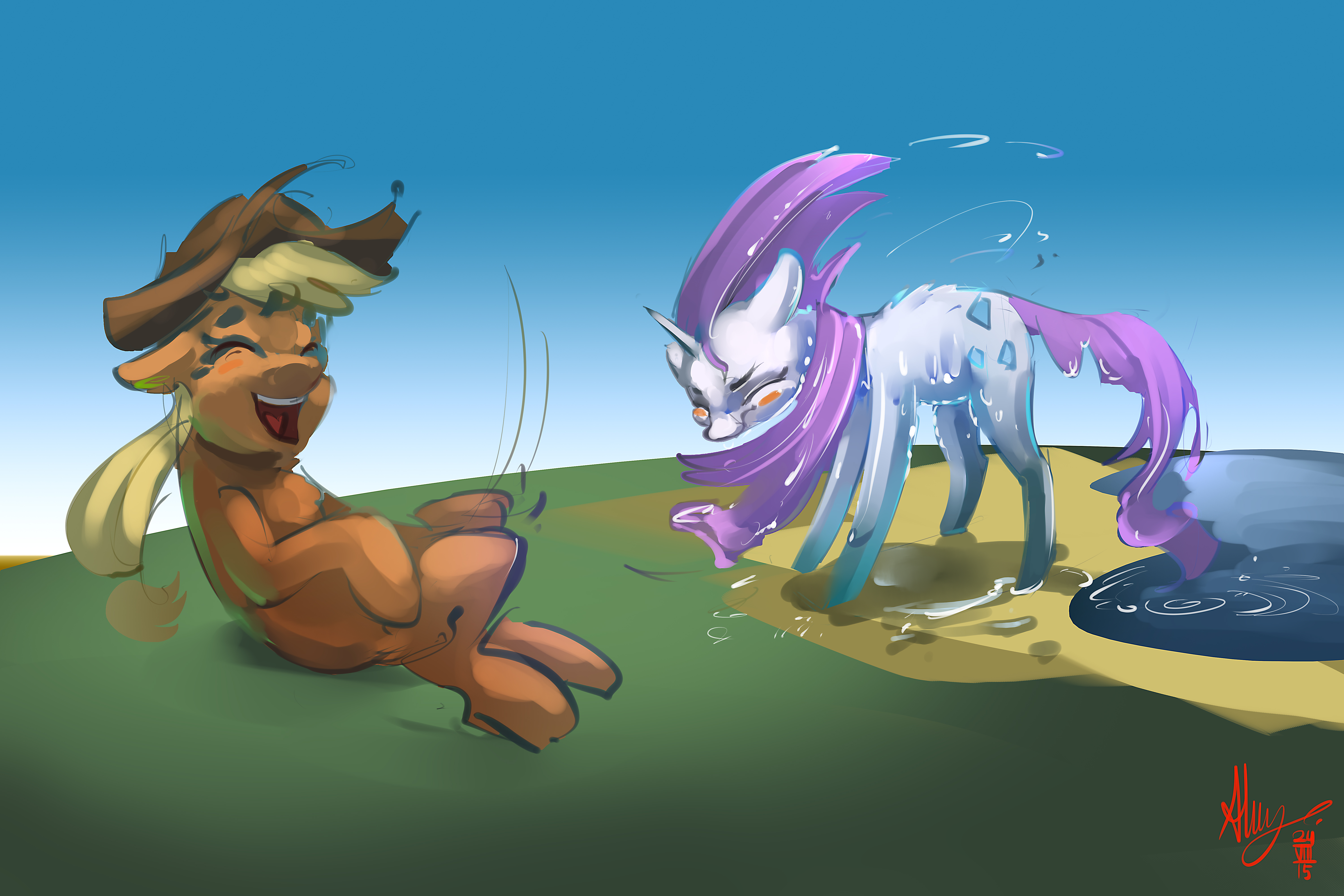 ATG V - Day 2 (Drawing a pony shaking)