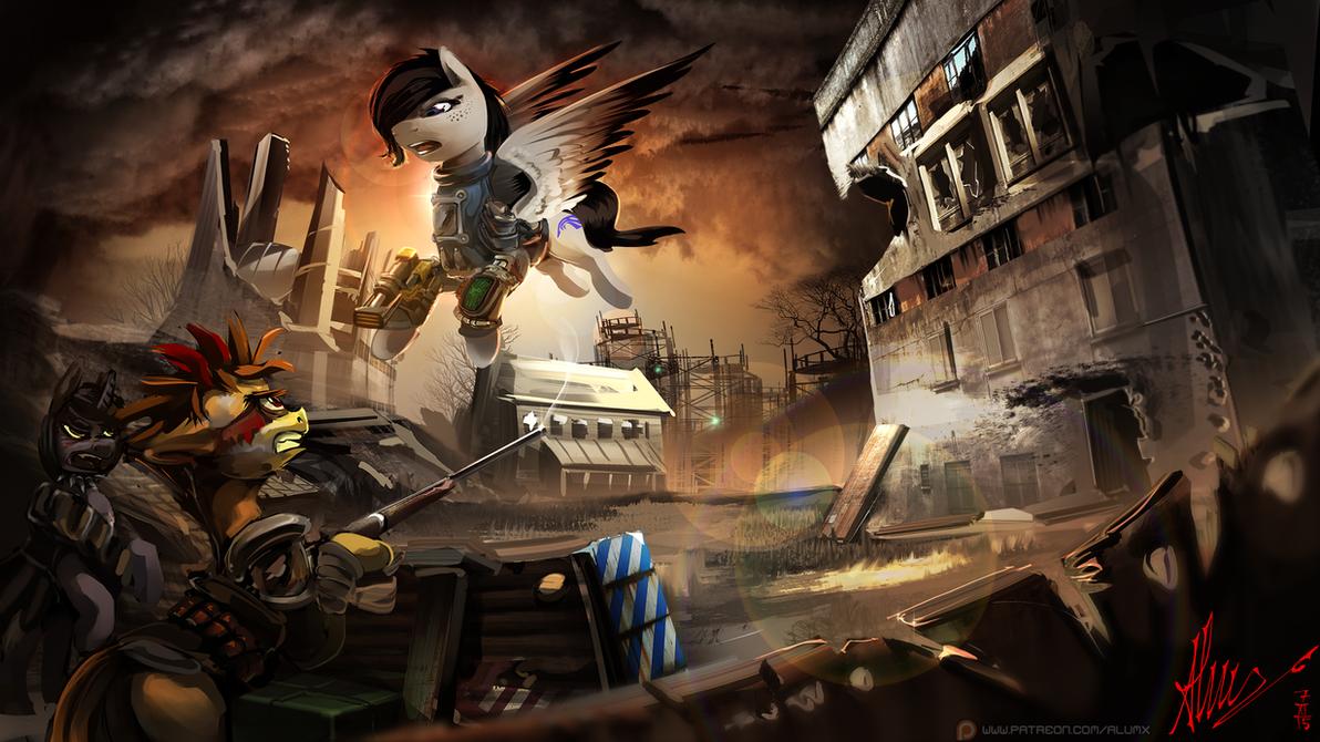 Patreon reward: The hero of Wasteland by Alumx