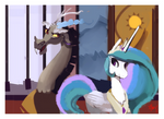 Picture of discord and celestia