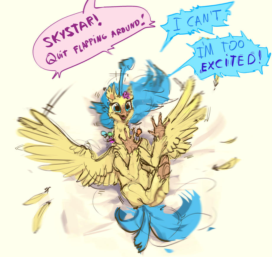 Skystar becomes a hippogriff by Alumx