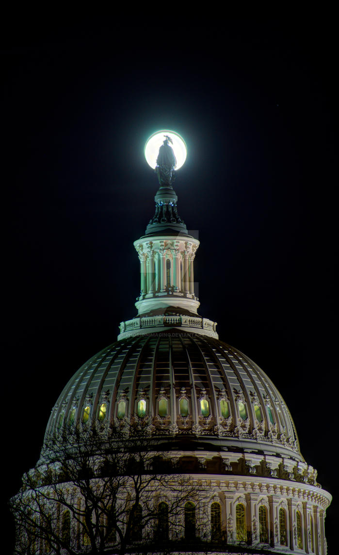 Capital Moon by PhorionImaging