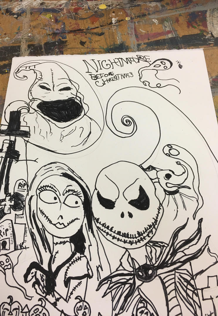 A nightmare before Christmas sketch by lukey5 on DeviantArt