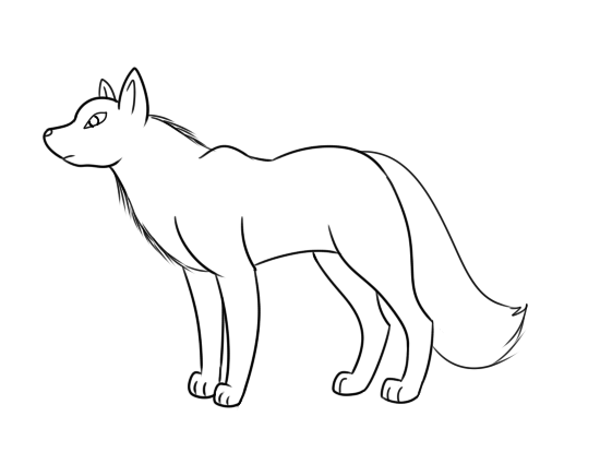 Wolf Outline By MLP Firefox5013