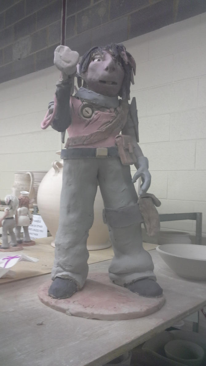 ceramics 4: project 3 ( BIGGER FIGURE - color ) by ownerfate