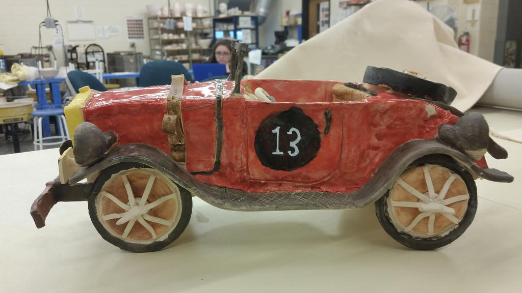 ceramic project ( my race car ) finished 2 by ownerfate