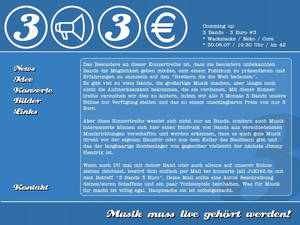 '3Bands - 3Euro' Interface
