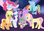 Mane Six and Spike headcanons by KHough