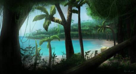 Island paradise by RVHochman
