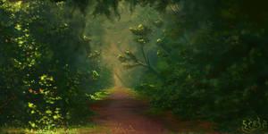 Lost In A World Of Leaves by RVHochman