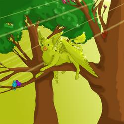 Golden Griffon Basks - Lati's