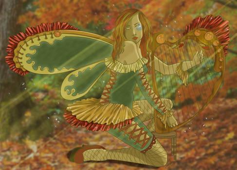 Autumn Harpist