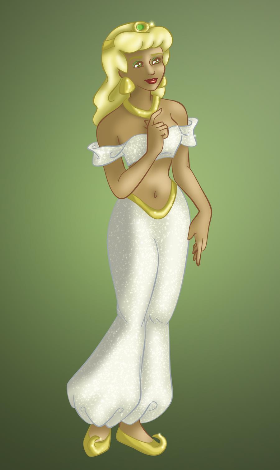 Cinderella as Jasmine - Color by whysp80