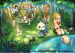Trainee and pokemon by LaRuuna