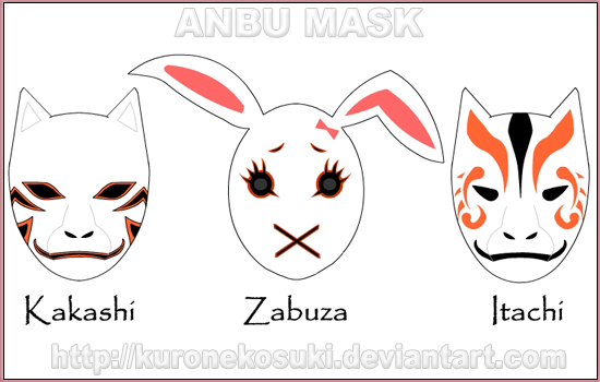 ANBU Mask 2 by kuronekosuki on DeviantArt