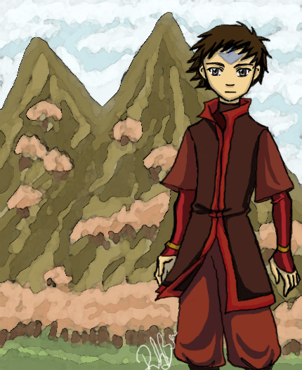 Avatar Aang With Hair: Into The Fire Nation