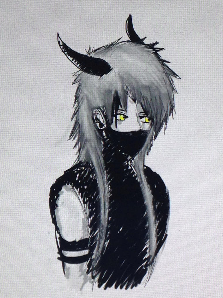 Demon sketch by WolfieloveKibalover