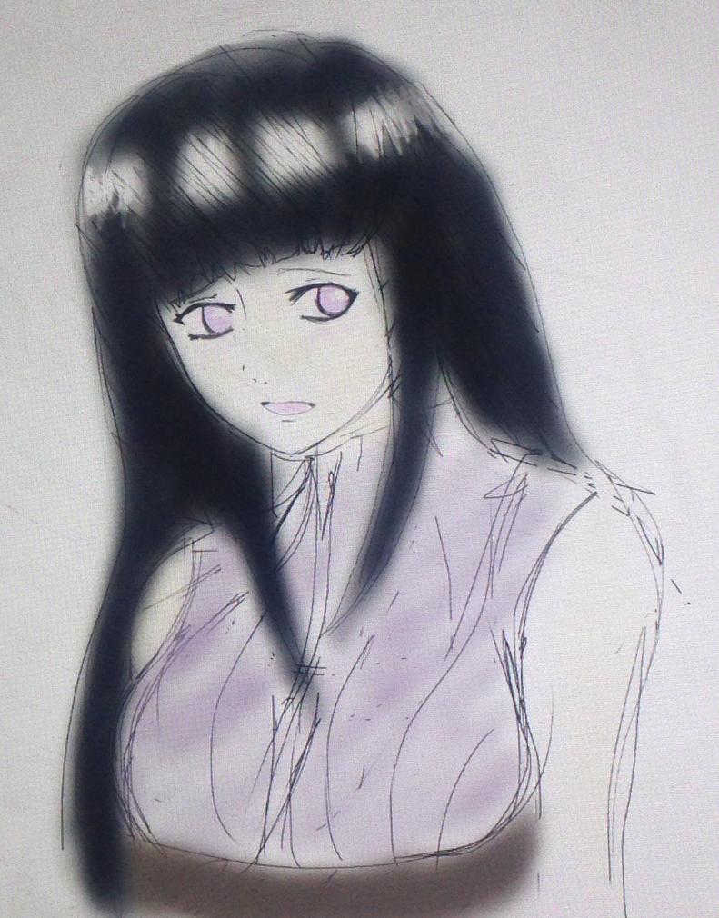 Hinata Sketch by WolfieloveKibalover
