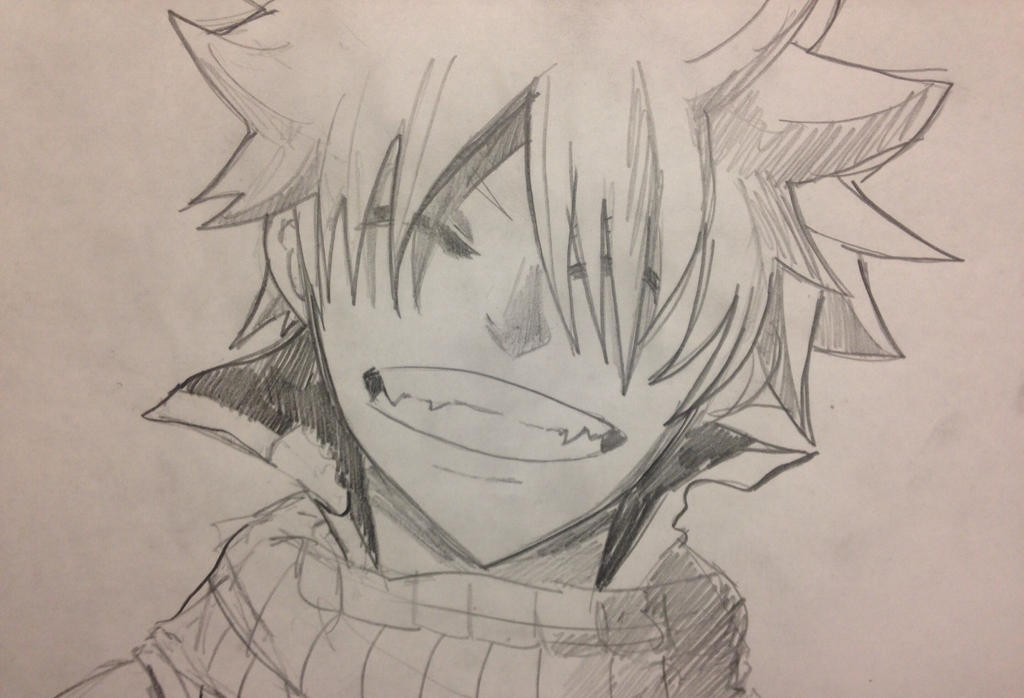 Natsu Dragneel's Smile by WolfieloveKibalover