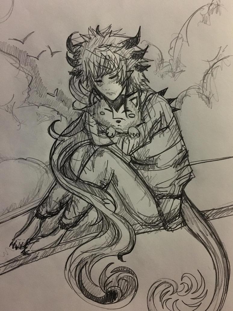 Kuro and his companion by WolfieloveKibalover