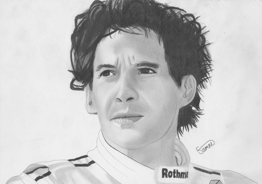 Ayrton Senna by Jon-Wyatt