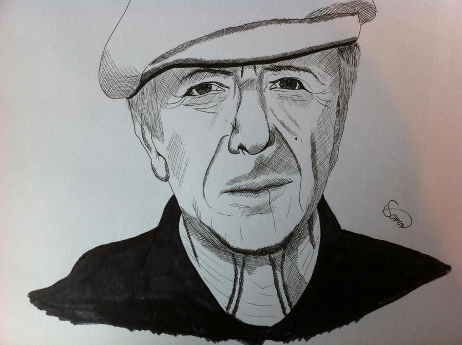 Leonard Cohen by Jon-Wyatt