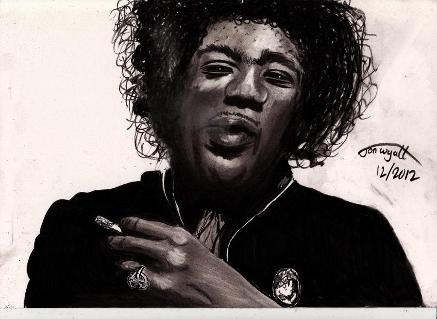 Jimi Hendrix by Jon-Wyatt