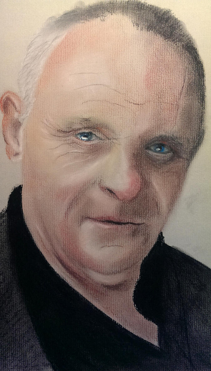 Anthony Hopkins - Coloured Pastels by Jon-Wyatt