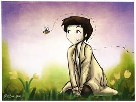 Cas and the bees by Star-Jem