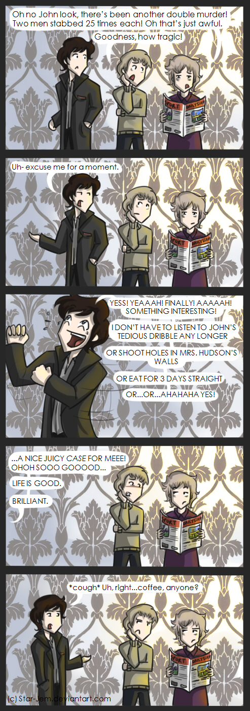 Life is good for Sherlock by Star-Jem
