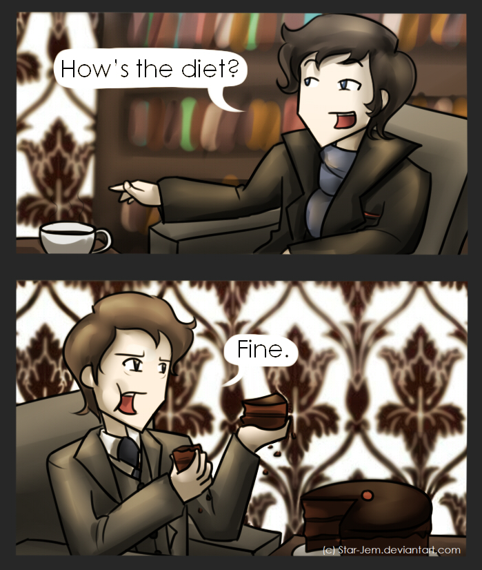 Sherlock: How's the diet Mycroft? by Star-Jem
