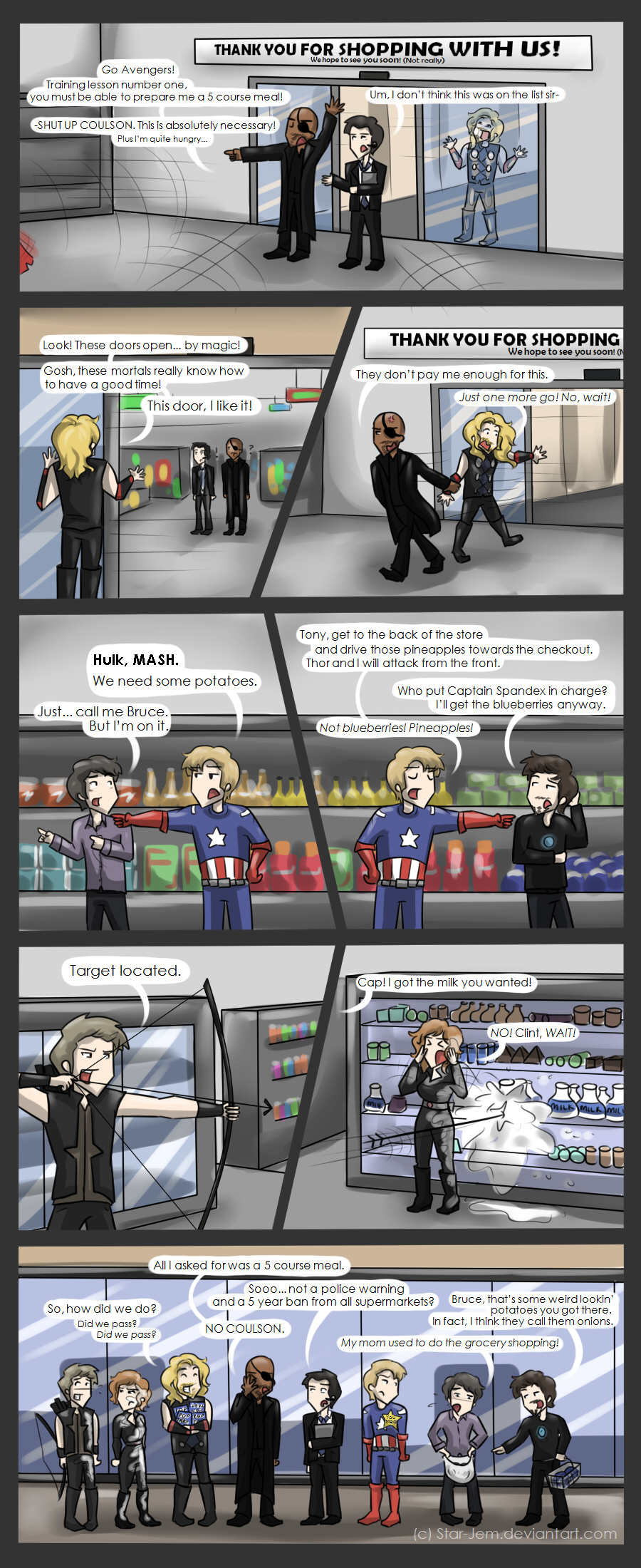 Avengers - 5 course disaster by Star-Jem